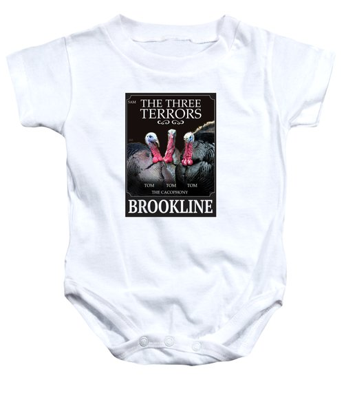 The Three Terrors Baby Onesie