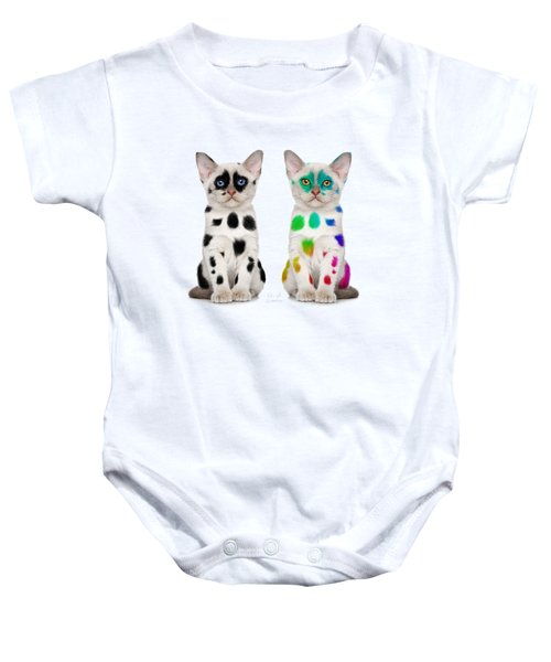 The Twins Dalmatian Cats Baby Onesie