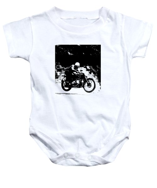 The Vintage Motorcycle Racer Baby Onesie