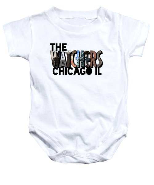 The Watchers Of Chicago Illinois Big Letter Baby Onesie