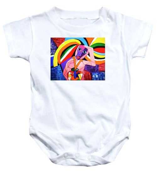 Thinking Of Peace Baby Onesie