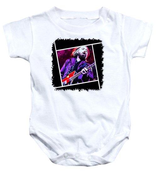 Tom Petty Painting Baby Onesie