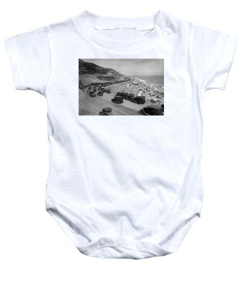 Topanga State Beach 1920 Baby Onesie