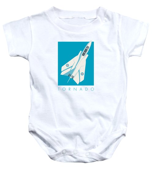 Tornado Swing Wing Jet - Cyan Baby Onesie