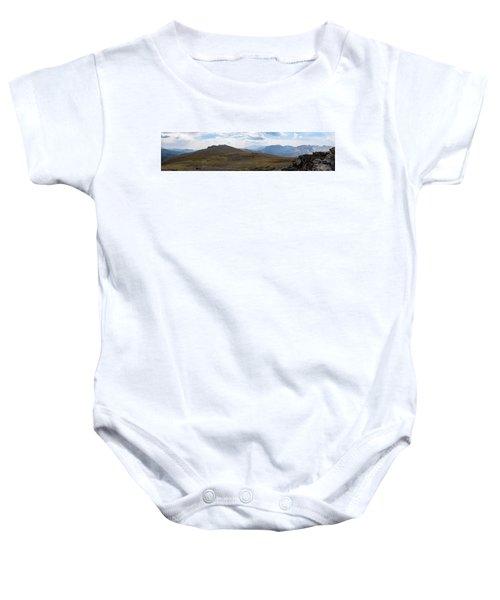 Trail Ridge Road Arctic Panorama Baby Onesie