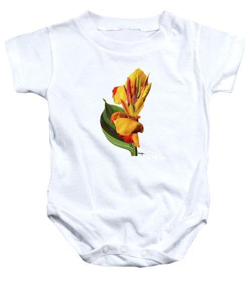 Tropical Bouquet-flower One Baby Onesie