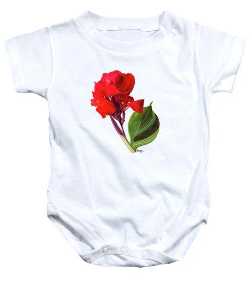 Tropical Bouquet-flower Three Baby Onesie