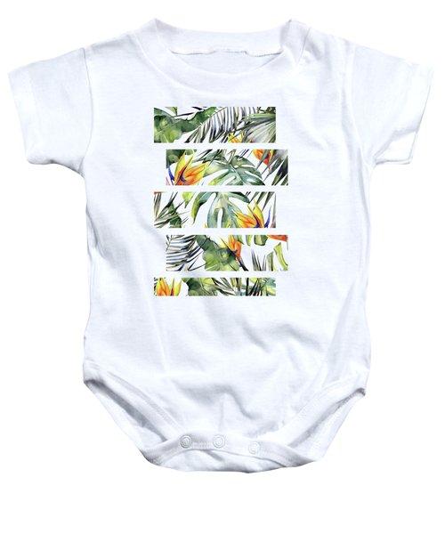 Tropical Garden Baby Onesie