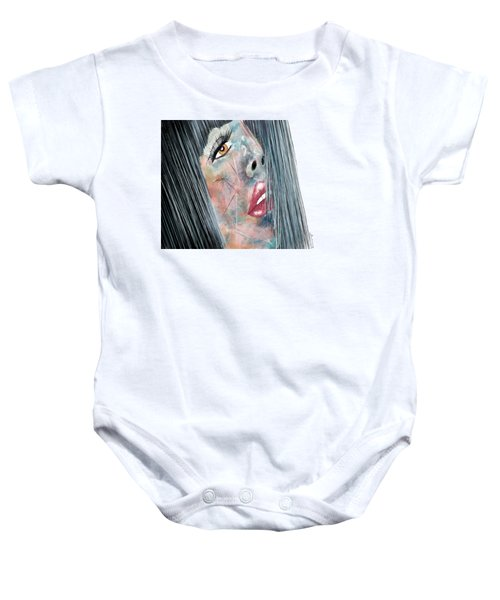 Twilight - Woman Abstract Art Baby Onesie