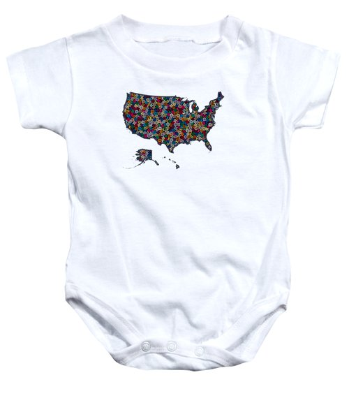United States Map-1 Baby Onesie