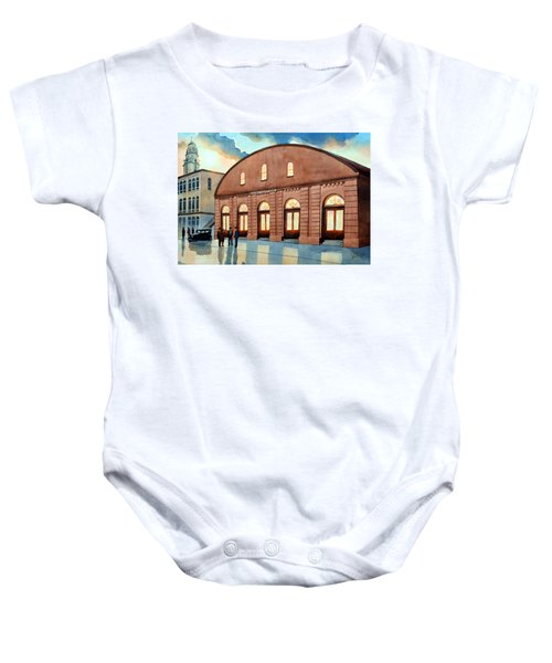 Vintage Color Columbia Market House Baby Onesie