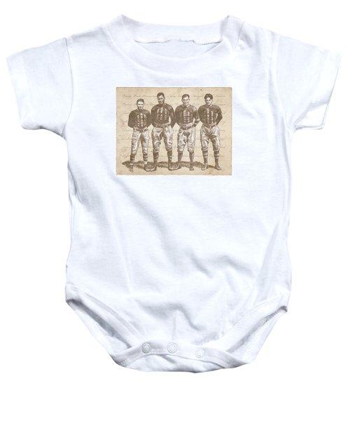 Vintage Football Heroes Baby Onesie