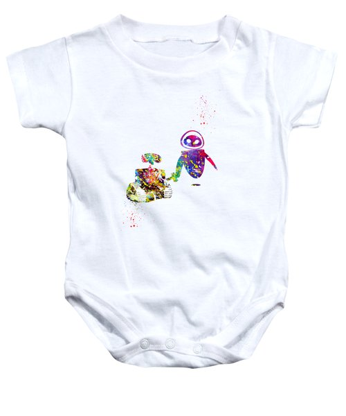 Wall-e And Eve Baby Onesie
