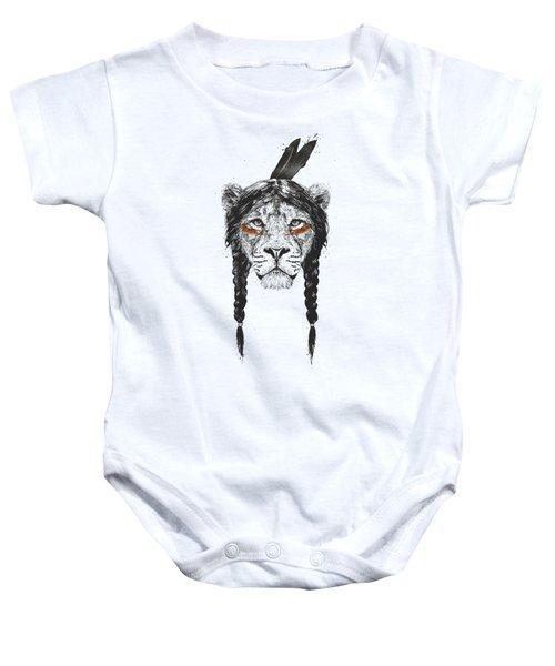 Warrior Lion Baby Onesie