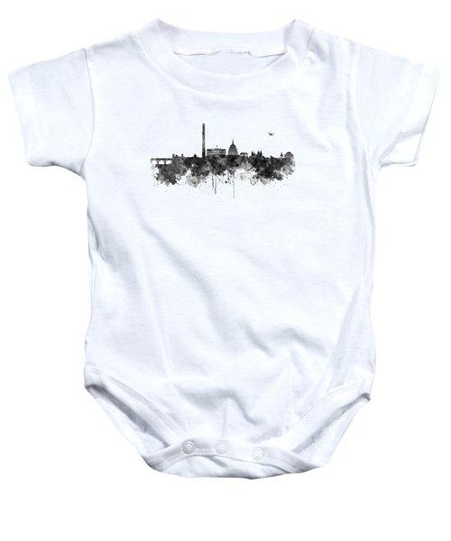Washington Dc Skyline - Black And White Baby Onesie