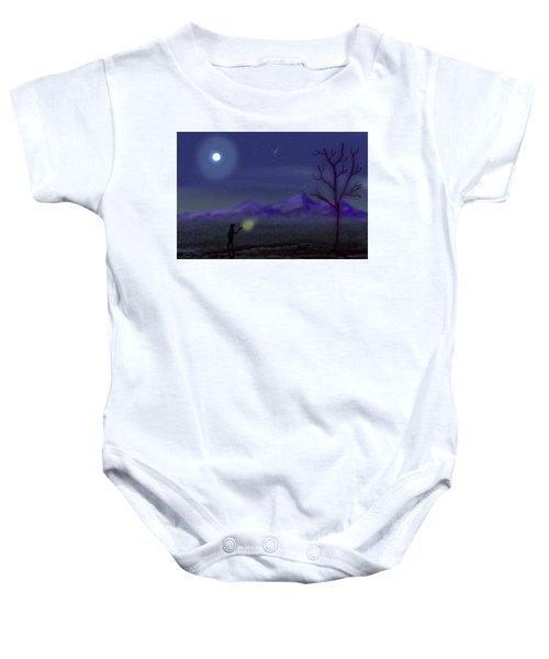 Watching Shooting Stars Baby Onesie