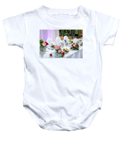 Wedding Table Baby Onesie