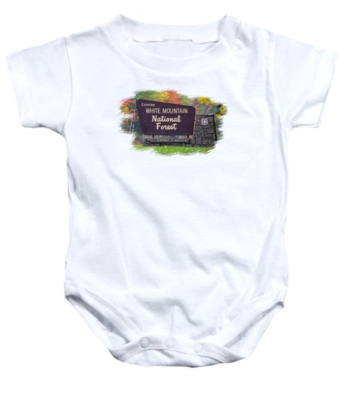 White Mountain National Forest Transparency Baby Onesie