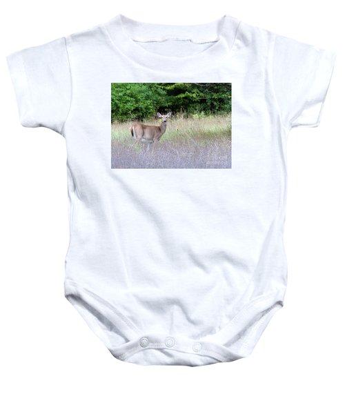 White Tale Deer Baby Onesie