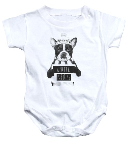 Winter Is Boring Baby Onesie