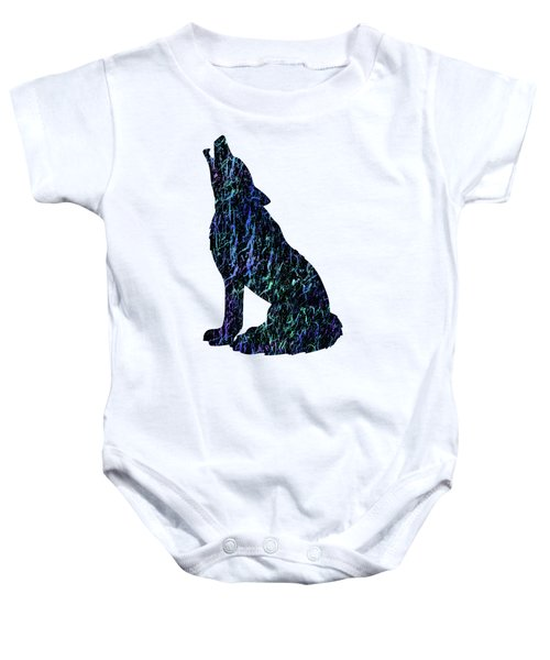 Wolf Watercolor Painting Baby Onesie