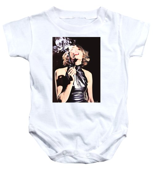 Woman Smoking A Cigarette Baby Onesie