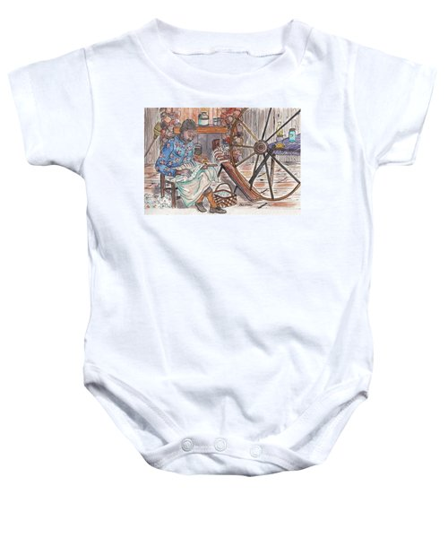 Working Cotton The Old Fashioned Way Baby Onesie