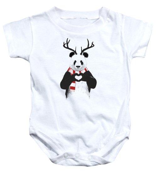 Xmas Panda  Baby Onesie