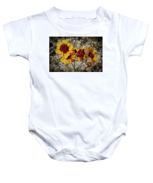 Yellow Wildflowers Baby Onesie