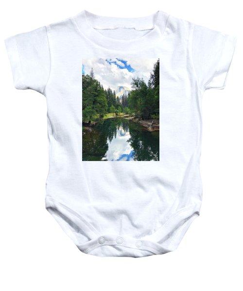 Yosemite Classical View Baby Onesie