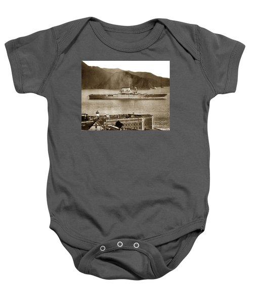 U. S. S. Lexington Cv-2 Fort Point Golden Gate San Francisco Bay California 1928 Baby Onesie