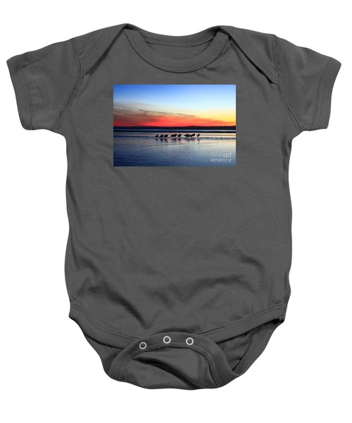 Shorebird Sunset Baby Onesie