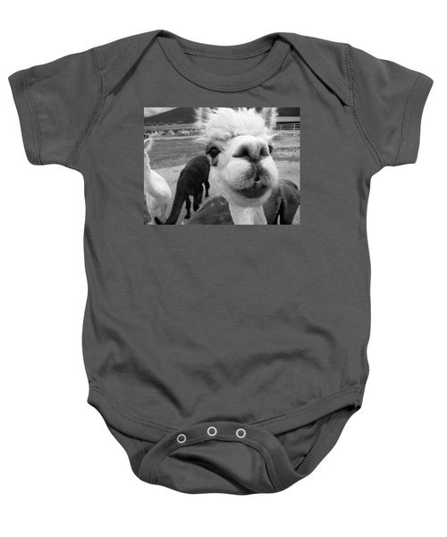 Alpaca Face Baby Onesie