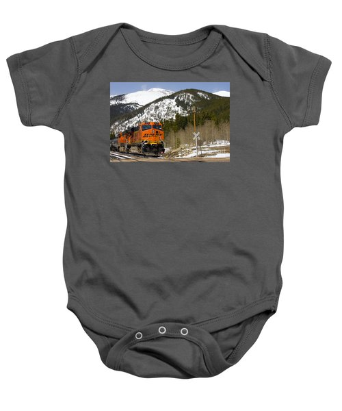 Bnsf Rolls Through Rollins Pass Colorado Baby Onesie