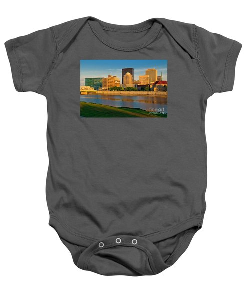 D4u-379 Dayton Skyline Photo Baby Onesie