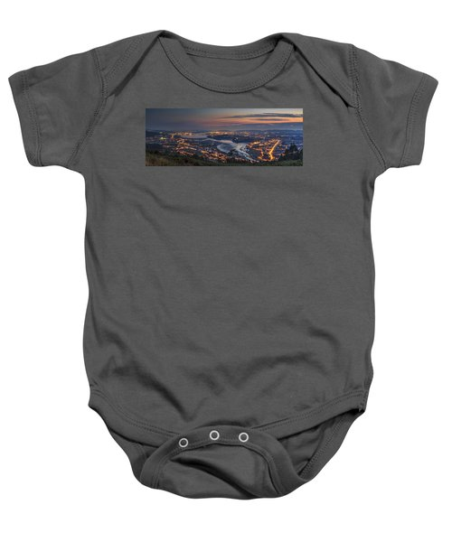Ferrol's Ria Panorama From Mount Ancos Galicia Spain Baby Onesie