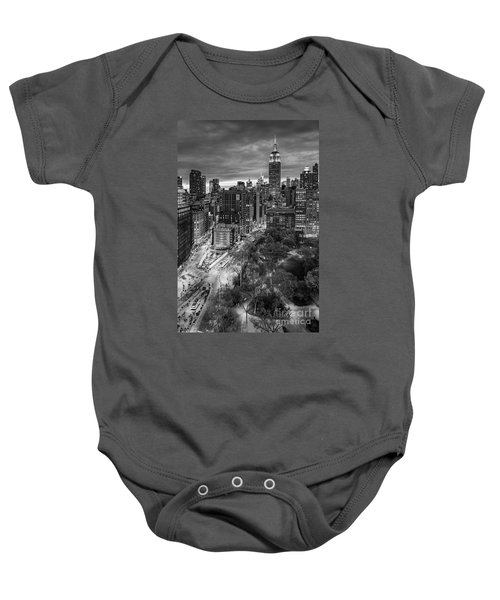 Flatiron District Birds Eye View Baby Onesie
