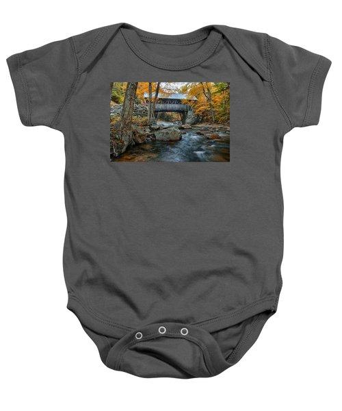 Flume Gorge Covered Bridge Baby Onesie