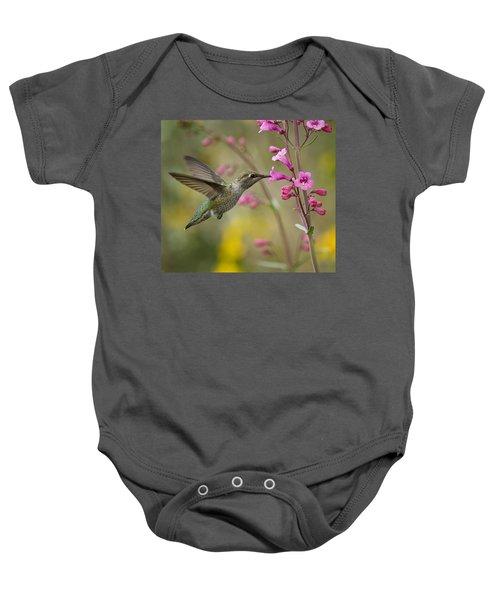 Hummingbird Heaven  Baby Onesie