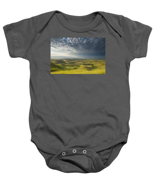Killdeer Badlands In The East Block Of Baby Onesie by Dave Reede