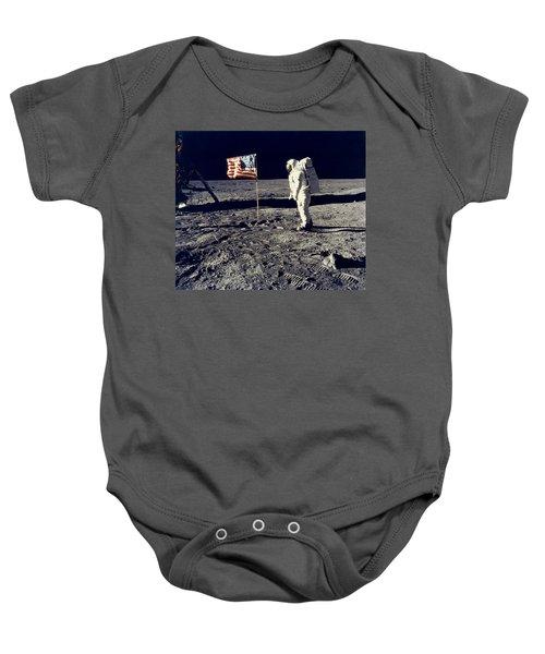 Man On The Moon Baby Onesie