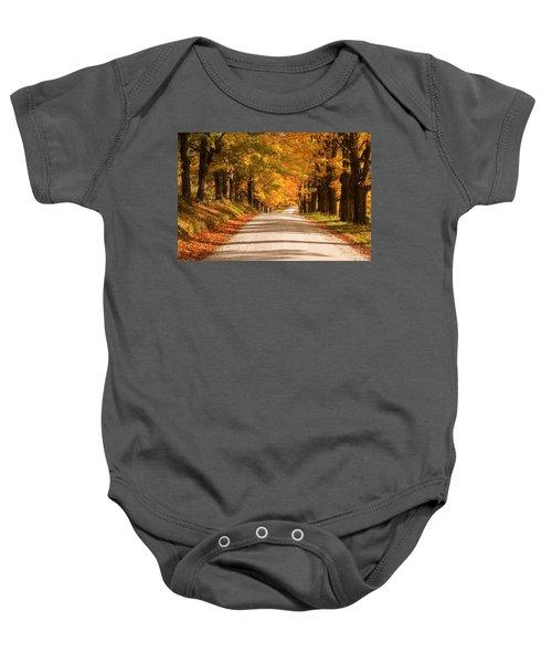 Maple Tree Canopy Baby Onesie