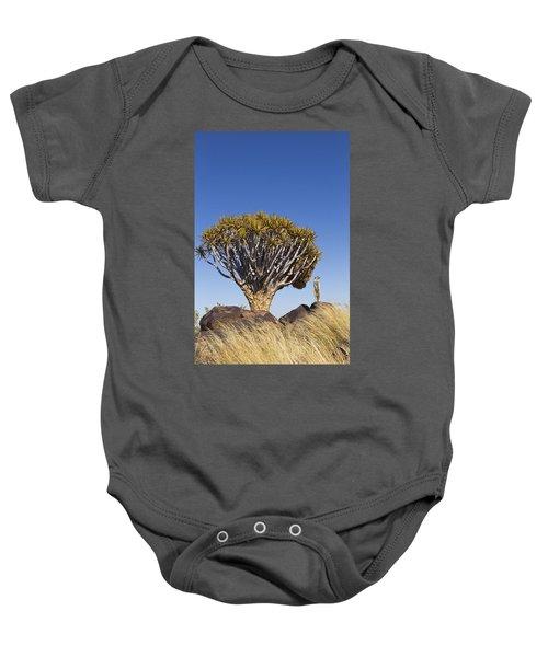 Meerkat In Quiver Tree Grassland Baby Onesie