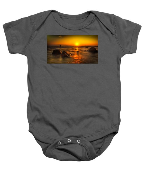 Montauk New York Summer Sunrise Baby Onesie