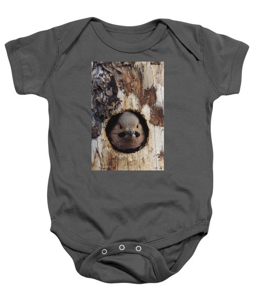 Northern Flicker  In Nest Cavity  Alaska Baby Onesie