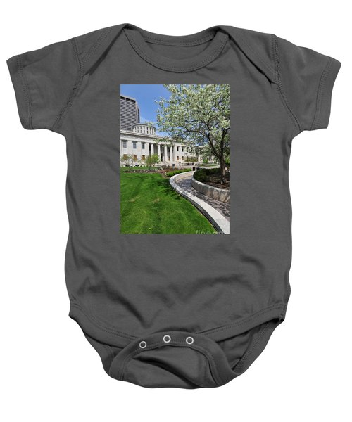 D13l-145 Ohio Statehouse Photo Baby Onesie