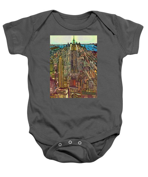 New York Mid Manhattan 1971 Baby Onesie