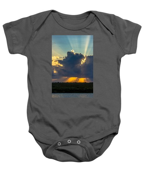 Rays From The Clouds Baby Onesie
