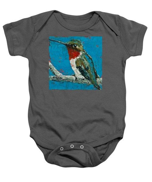 Ruby-throated Hummingbird Baby Onesie