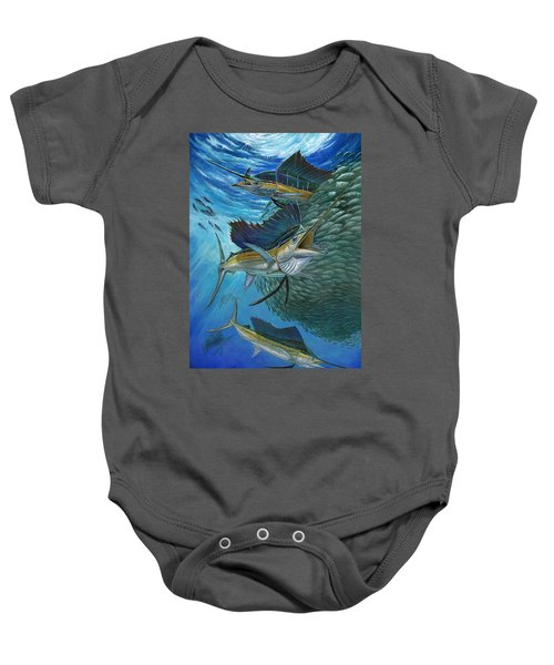 Sailfish With A Ball Of Bait Baby Onesie
